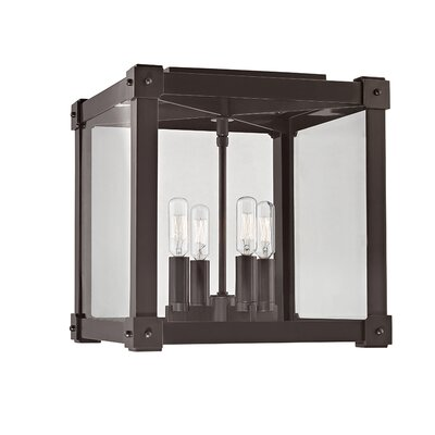 Moncontour 4-Light Flush Mount Finish: Old Bronze