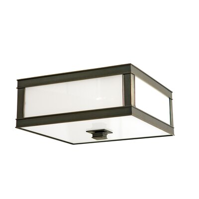 Preston 3-Light Flush Mount Finish: Old Bronze