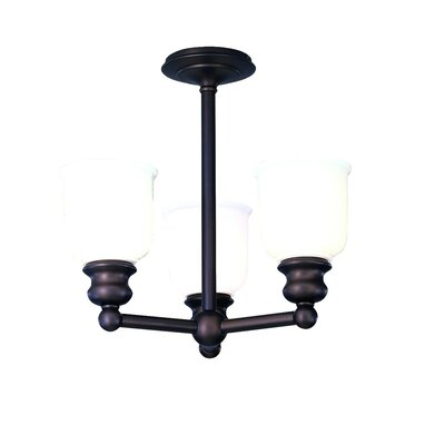 Mindy 3-Light Semi-Flush Mount Finish: Old Bronze