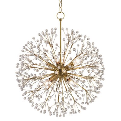 Dunkirk 8 Light Globe Pendant Finish: Aged Brass