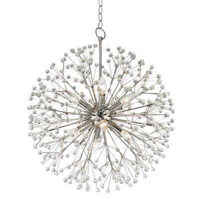 Dunkirk 8 Light Globe Pendant Finish: Polished Nickel