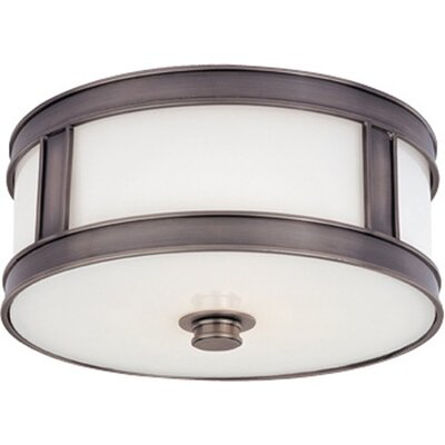 Hoeppner 2-Light Flush Mount Finish: Historic Nickel
