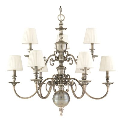 Philbrook 9-Light Shaded Chandelier Finish: Old Bronze