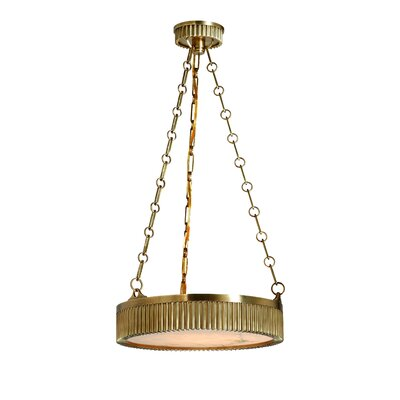 Lynden Drum Pendant Size / Finish: 16 / Aged Brass