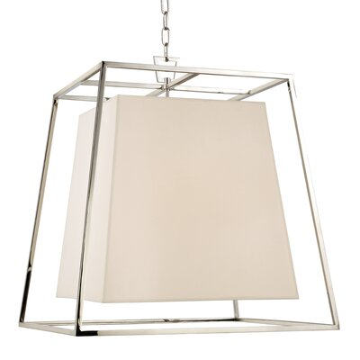 Casner 4-Light Foyer Pendant Finish: Polished Nickel, Shade Color: White