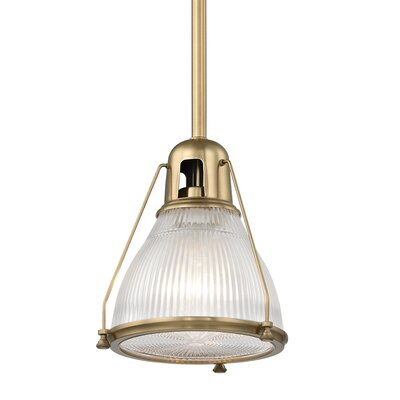 Margo 1-Light Mini Pendant Finish: Aged Brass