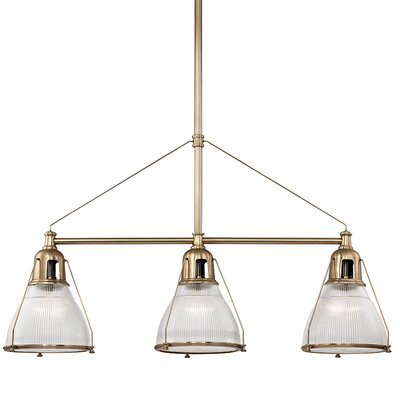 Margo 3-Light Kitchen Island Pendant Finish: Aged Brass