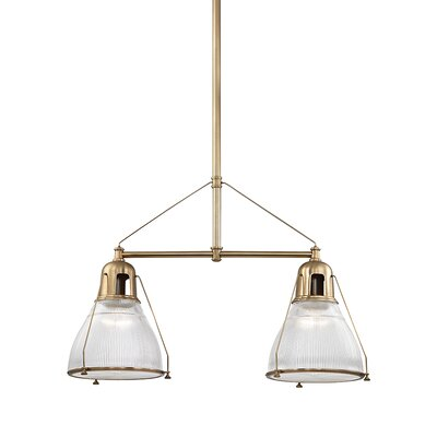 Margo 2-Light Kitchen Island Pendant Finish: Aged Brass