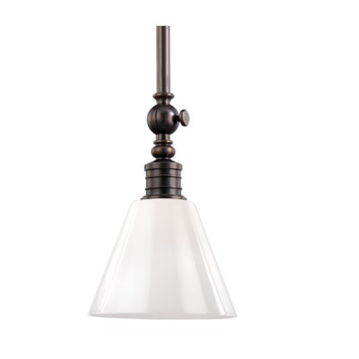 Charley 1-Light Pendant Finish: Distressed Bronze