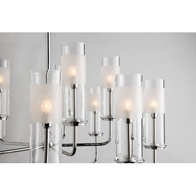 Lessman 15-Light Shaded Chandelier Finish: Polished Nickel