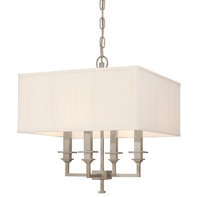 Eldorado 4-Light Shaded Chandelier Finish: Antique Nickel