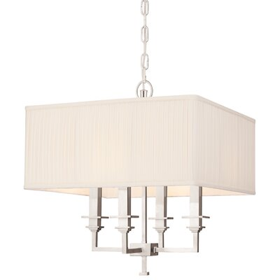 Eldorado 4-Light Shaded Chandelier Finish: Polished Nickel
