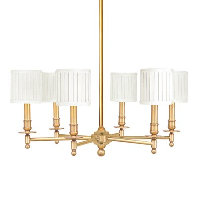 Edwin 6-Light Shaded Chandelier Finish: Aged Brass