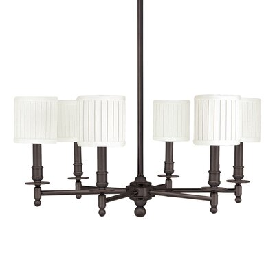 Edwin 6-Light Shaded Chandelier Finish: Old Bronze