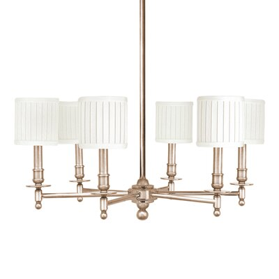 Palmer 6-Light Shaded Chandelier Finish: Satin Nickel