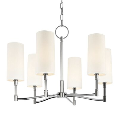 Katya 6-Light Shaded Chandelier Finish: Polished Nickel