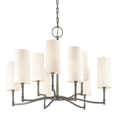Katya 9-Light Shaded Chandelier Finish: Antique Nickel