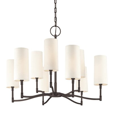 Katya 9-Light Shaded Chandelier Finish: Old Bronze