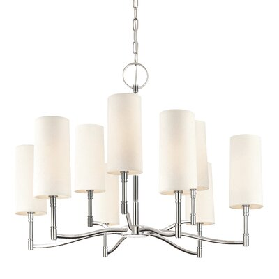Katya 9-Light Shaded Chandelier Finish: Polished Nickel