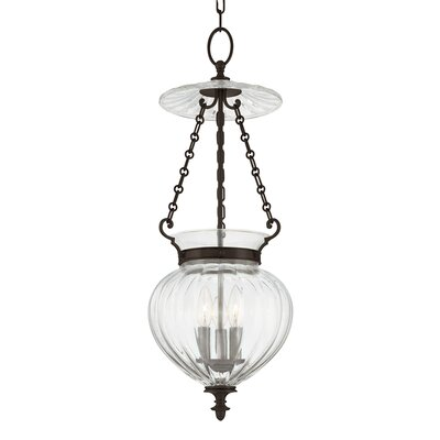 Gardner 3-Light Mini Foyer Pendant Finish: Old Bronze, Size: 11