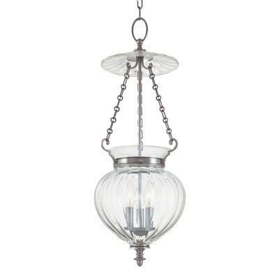 Eric 3-Light Mini Foyer Pendant Finish: Polished Nickel, Size: 11