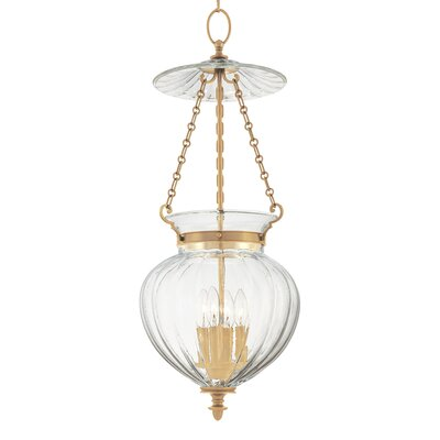 Eric 4-Light Foyer Pendant Finish: Aged Brass
