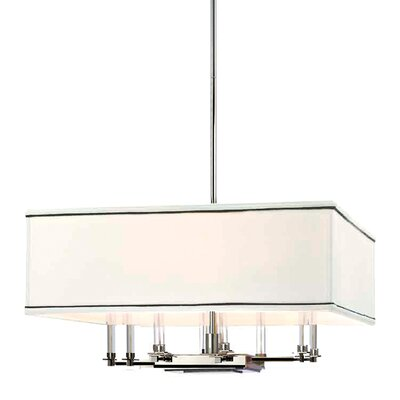 Collins 8-Light Shaded Chandelier Finish: Polished Nickel