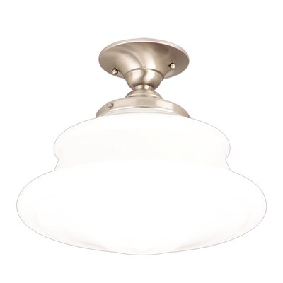 Petersburg 12.75 Semi Flush Mount Finish: Satin Nickel