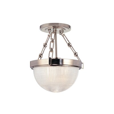 Hesson 1-Light Semi Flush Finish: Satin Nickel