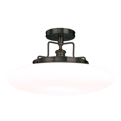 Maryellen 18 1-Light Semi Flush Mount Finish: Old Bronze