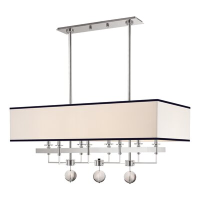 Emsley 8-Light Kitchen Island Pendant Finish: Polished Nickel