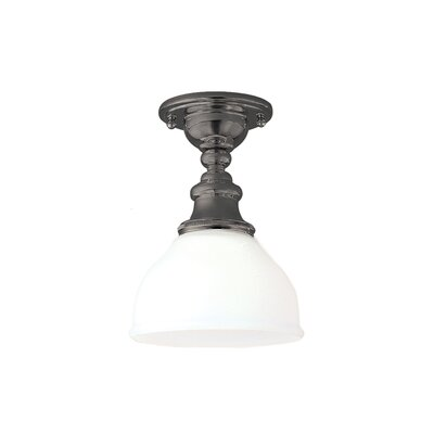 Amalda 1-Light Semi-Flush Mount Finish: Antique Nickel