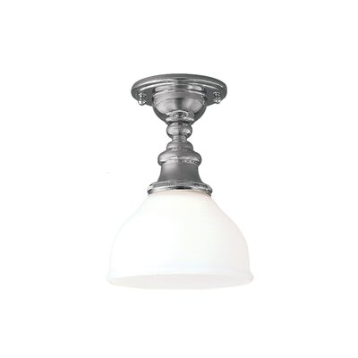 Amalda 1-Light Semi-Flush Mount Finish: Polished Nickel
