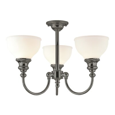 Ennis 3-Light Semi-Flush Mount Finish: Antique Nickel