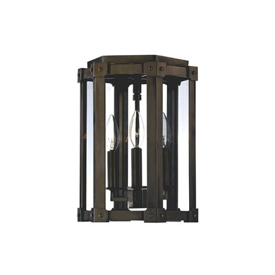 Roxbury 3-Light Semi Flush Mount Finish: Distressed Bronze