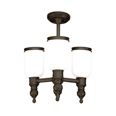 Elma 3-Light Semi Flush Mount Finish: Distressed Bronze