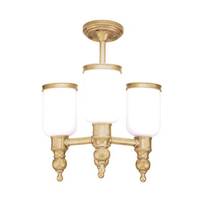 Elma 3-Light Semi Flush Mount Finish: Aged Brass