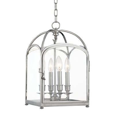 Eugenie 4-Light Foyer Pendant Size: 17.75, Finish: Polished Nickel