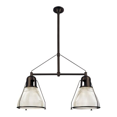 Margo 2-Light Kitchen Island Pendant Finish: Old Bronze