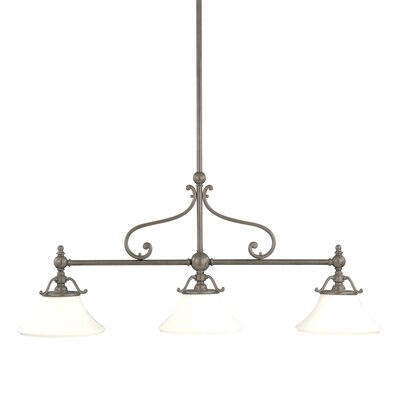 Branch 3-Light Kitchen Island Pendant Color: Historic Nickel