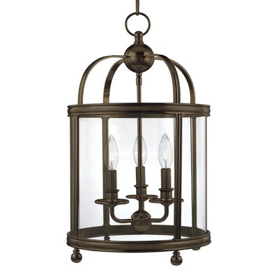 Elyria 3-Light Foyer Pendant Finish: Aged Brass
