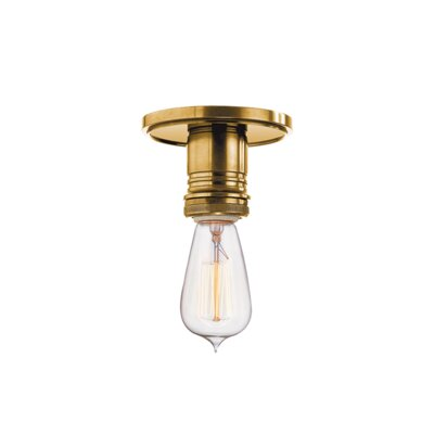 Diogo 1-Light Semi-Flush Mount Finish: Aged Brass