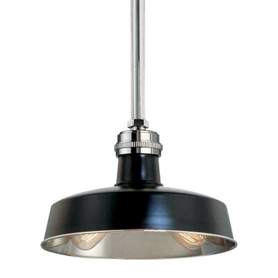 Hudson Falls 2-Light Pendant Finish: Black Polished Nickel