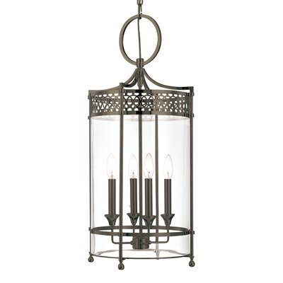 Emelia 4-Light Foyer Pendant Finish: Distressed Bronze