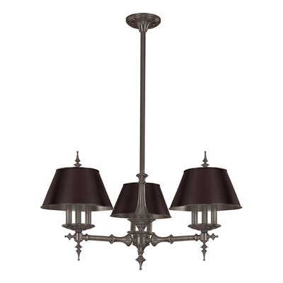 Cheshire 9-Light Shaded Chandelier Finish: Antique Nickel