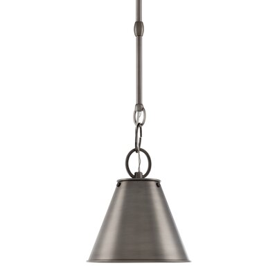 Molly 1-Light Metal Mini Pendant Finish: Historic Nickel