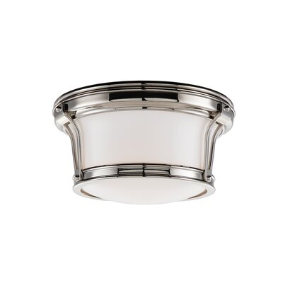 Aries Light Mount Finish: Polished Nickel, Size: 6.5H x 15 Dia.