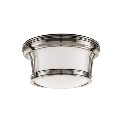 Aries Light Mount Finish: Satin Nickel, Size: 6.5H x 15 Dia.