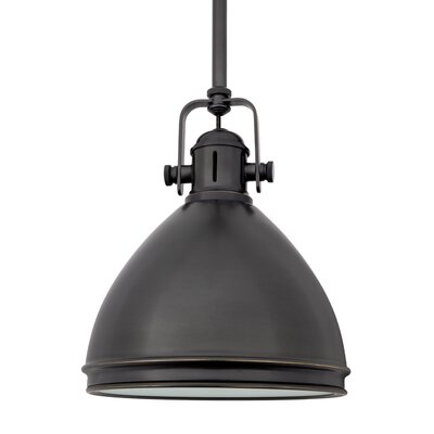 Carnahan 1-Light Mini Pendant Finish: Old Bronze, Size: 8