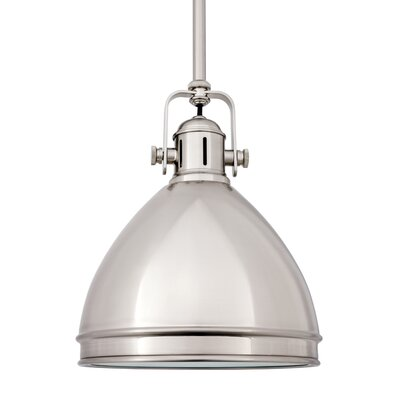 Carnahan 1-Light Mini Pendant Finish: Satin Nickel, Size: 8